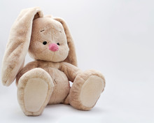 The Soft Toy Bunny Sits On A L...