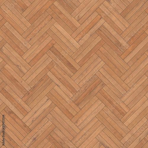 Fototapeta Seamless wood parquet texture herringbone sand color obraz na płótnie
