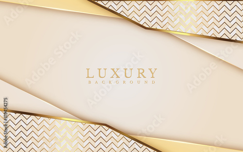 Fototapeta Luxury Gold Background with metal texture and Expensive mustard shades in 3d abstract style. Illustration from vector about modern template design for strong feeling and technology and futurism. obraz