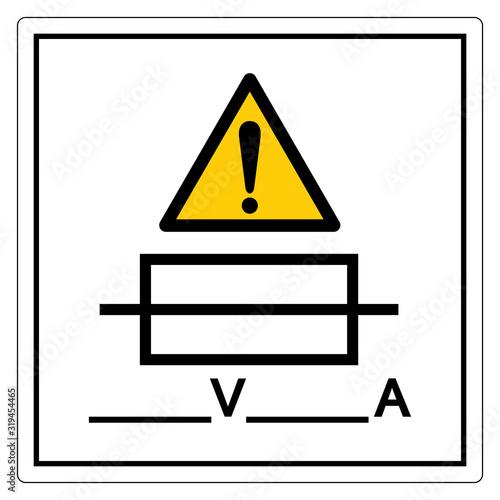Photo Fuse (Writable) Symbol Sign, Vector Illustration, Isolate On White Background Label