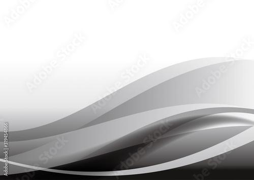 抽象 曲線 背景 黒 #319454866