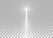 Abstract White Laser Beam. Iso...