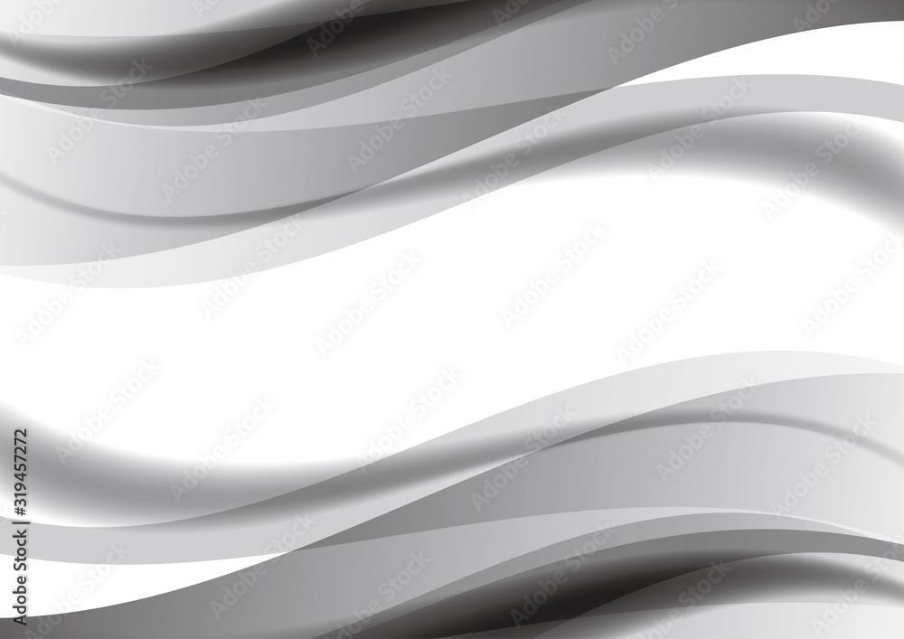 Fototapeta 抽象 曲線 背景 黒