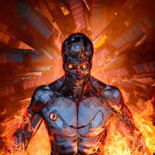Fury Of The Machine / 3D Illus...