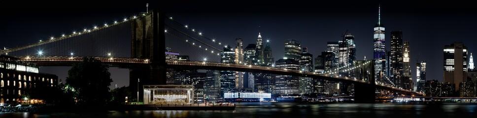 Fototapeta Nowy York New York City Skyline with Brooklyn Bridge