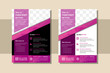 The minimal vector editable layout of square format design templates for brochure, flyer, magazine. Colorful polygonal background with triangles, modern memphis pattern. space for photo. flat pink