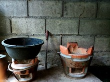 Old Bucket Of Water. Two Old C...