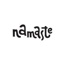 Namaste. Yoga Illustration Wit...