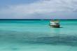 Boot am Strand von Tobago