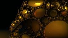 Fractal Gold Decoration