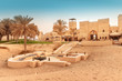 Ancient village and fortress in desert near Dubai