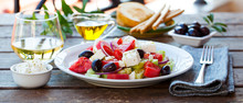 Greek Salad. Fresh Vegetables,...