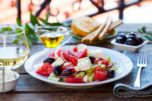 Obraz na plátně Greek salad