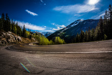 Curving Road In Mountains