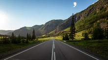 Altai Highway To The Mountains...