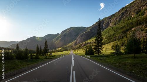 Fototapeta Altai highway to the mountains, Russia, Altai obraz