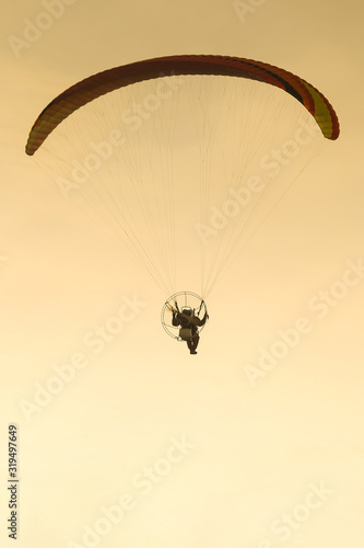 Photo Paraglider with engine