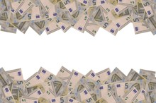 Pattern Part Of 5 Euro Banknot...
