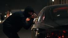 Robber Man Checking Breaking E...