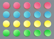 Fun Twister Game Pattern Colored Circles On Grey