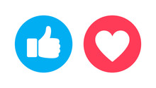 Thumbs Up And Heart, Social Me...