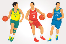 Basketball Players In Vector I...