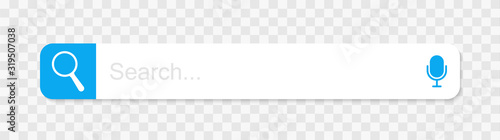 Web search bars vector illustration