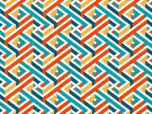 Multicolor Geometric Maze Seam...