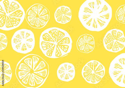柑橘系の果物をモチーフにしたテキスタイル素材