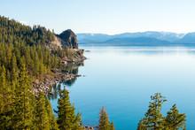 Lake Tahoe Is Calm Along The E...