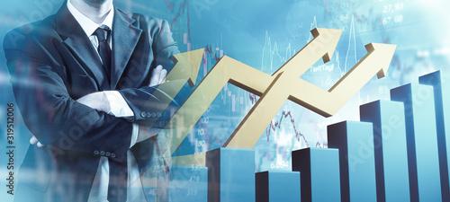 Fototapeta Chart Finanzen Businessman  obraz