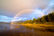 A Double Rainbow Appears After...