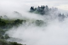 View Of Fog Over Mountain In R...