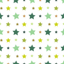 Seamless Pattern With Green An...