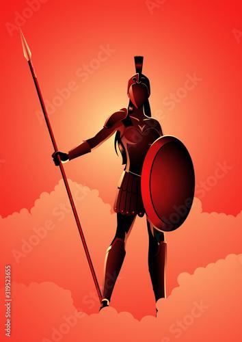 Photo Athena The Goddess of Wisdom