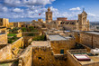 Malta, Gozo, Victoria, Cittadella and surrounding old town houses