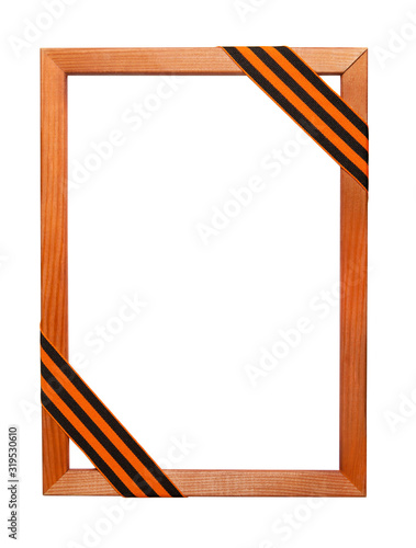 Fotografía Wooden portrait frame with St