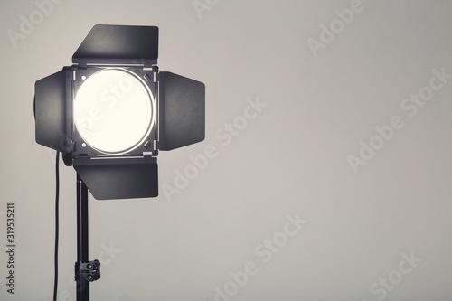 Obraz Studio lighting on grey background - fototapety do salonu
