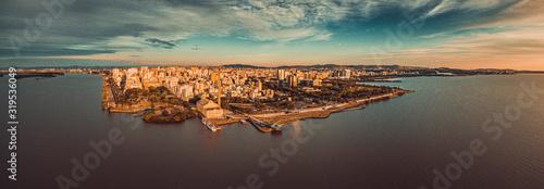 Foto aérea de Drone Porto Alegre RS Wallpaper Mural