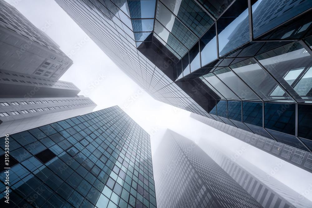 Fototapeta Modern office buildings in the financial district