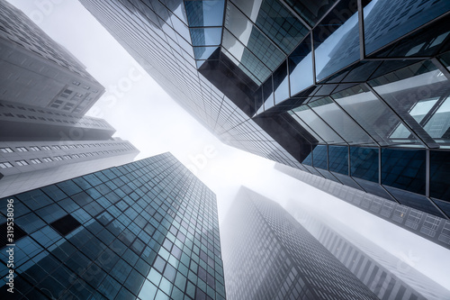 Modern office buildings in the financial district Canvas-taulu
