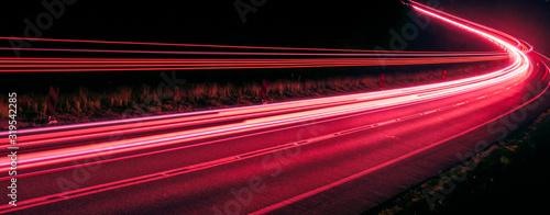 Obraz lights of cars with night. long exposure - fototapety do salonu