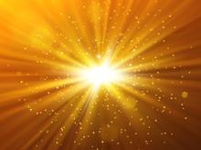 Star Burst With Sparkles. Ligh...