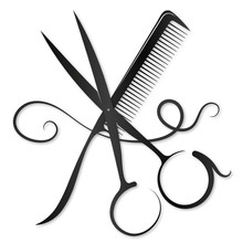 Scissors And Comb With A Lock ...
