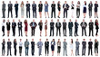collage of a variety of business people standing in a row
