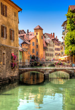 Canal In Beautiful Annecy, France