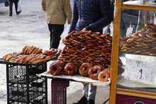 Ankara A Pretzel Vendor In Tur...