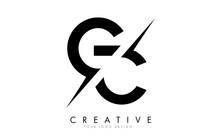 GC G C Letter Logo Design With A Creative Cut.