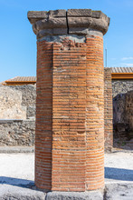Italy, Pompeii, Archaeological Area, Remains Of The City Buried By The Eruption Of Ashes And Rocks Of Vesuvius In 79.