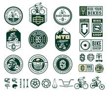 Vector Bike Shop, Club, Bicycl...